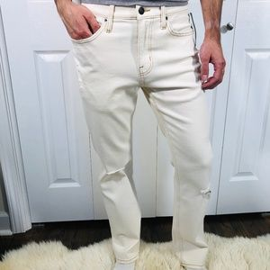 All-season Comfort Straight Off White Cream Jeans